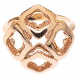 Chopard Imperiale Openwork 18K Rose Gold Cocktail Ring Size 50.5 292701