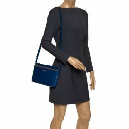 Coach Blue/Beige Leather East West Crossbody Bag 292680