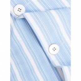 Jil Sander Blue Striped Button Down Corset Belt DE 36 292965