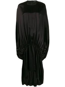Simone Rocha атласное платье со сборками 37320318