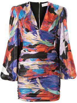 Rebecca Vallance платье мини Belladonna со сборками и принтом 20021730