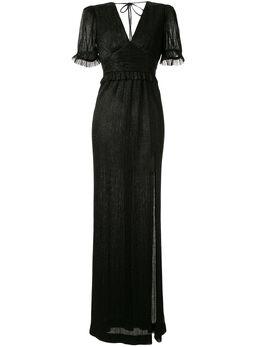 Rebecca Vallance плиссированное платье Luna с эффектом металлик 20021699