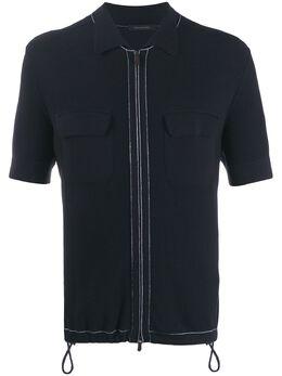 Ermenegildo Zegna рубашка-поло на молнии UUD23C32