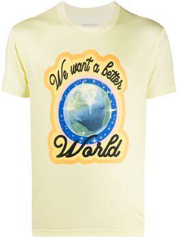 Viktor & Rolf футболка с принтом We Want a Better World 14542TENCELWAXYELLOW