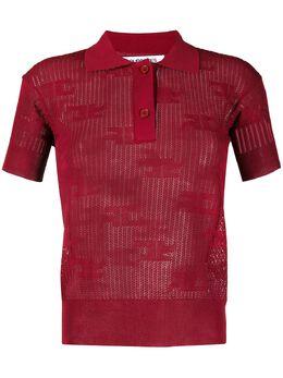 Courreges рубашка поло узкого кроя 120ML43M021