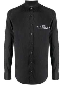 John Richmond рубашка с длинными рукавами и вышитым логотипом RMP20234CAPU