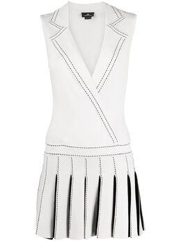 Elisabetta Franchi плиссированное платье мини AM88S01E2