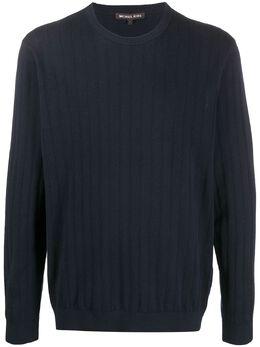 Michael Kors свитер с круглым вырезом в рубчик CS06KZX843