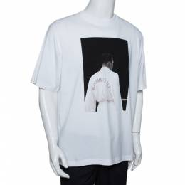 Marcelo Burlon x Muhammad Ali White Graphic Print Cotton T-Shirt M 292500