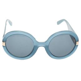 Salvatore Ferragamo Sky Blue/Black SF778S Round Sunglasses 293739