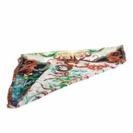 Roberto Cavalli Multicolor Printed Silk Scarf 292627