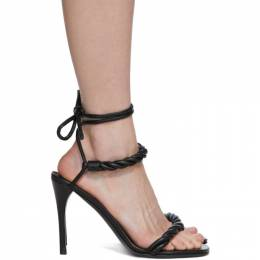 Valentino Black Valentino Garavani The Rope Heeled Sandals TW0S0Y21LWS