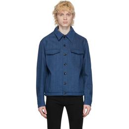 Fendi Blue Denim Logo Jacket FW0428 ABK4
