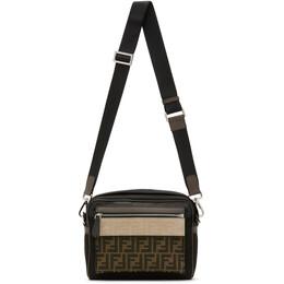 Fendi Black Medium Forever Fendi East/West Messenger Bag 7VA487 A7UW