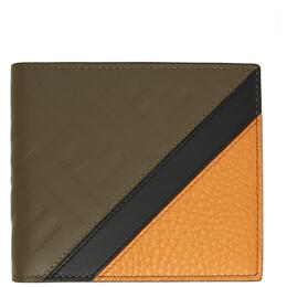 Fendi Brown Leather Forever Fendi Bifold Wallet 7M0169 AB00