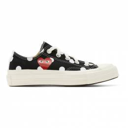 Comme Des Garcons Play Black Converse Edition Polka Dot Heart Chuck 70 Low Sneakers P1K114
