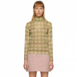 Fendi Pink and Green Check Turtleneck FZY997 ABWI