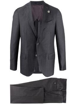 Lardini костюм узкого кроя с однобортным пиджаком EI418AEC54402