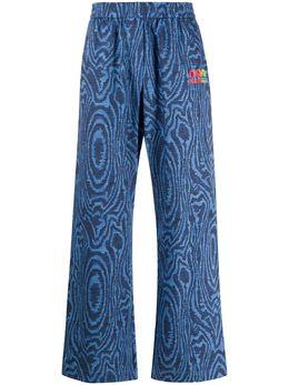 Napa By Martine Rose спортивные брюки в полоску с анималистичным принтом NP0A4EDHFV81