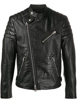 Tom Ford байкерская куртка с тиснением под крокодила TFL624BU499