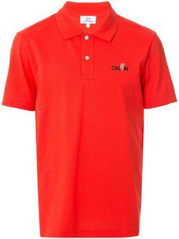 Ck Calvin Klein рубашка-поло с вышитым логотипом 019CM77474BRR