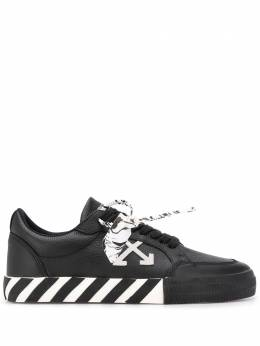 Off-White Vulcanised striped sole low-top sneakers OMIA085E20LEA0011001