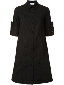 Ck Calvin Klein платье-рубашка с подворотами на манжетах C377W54718BLK