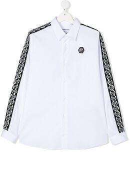 Philipp Plein рубашка со вставками и логотипом S20CBRP0102PTE003N