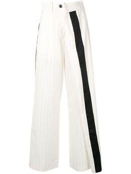 Sacai asymmetric striped trousers 2005017