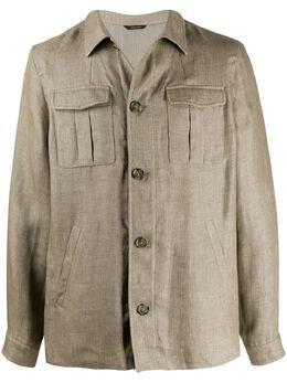 Loro Piana куртка-рубашка с карманами FAI9991
