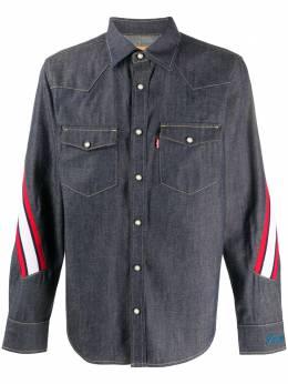 Facetasm джинсовая рубашка в полоску YASHU07