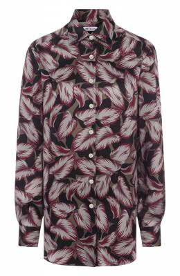 Шелковая блуза с принтом Kiton D38433K05R26