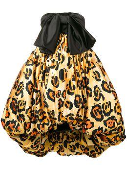 Richard Quinn пышное платье с леопардовым принтом RQSS1946