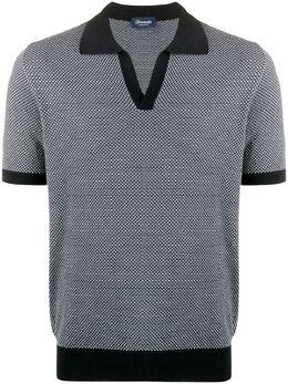 Drumohr speckle print polo shirt D1Z202J1