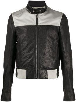 Rick Owens двухцветная байкерская куртка RR20S7783LWLNB