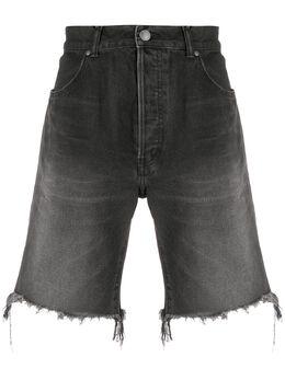 John Elliott джинсовые шорты с бахромой G022E61410L