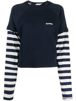 Sunnei полосатая футболка College WH04CC501