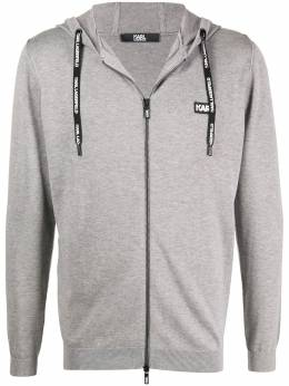 Karl Lagerfeld zip front hoodie 6550350501303