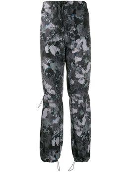 Marcelo Burlon County Of Milan спортивные брюки с абстрактным принтом CMCA133E20FAB002
