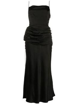 Materiel платье-комбинация с драпировкой на талии SS20LAN846DRBK