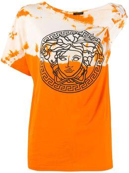 Versace one-shoulder tie-dye T-shirt A86376A228806
