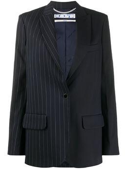 Off-White oversized striped panelled blazer OWEF032S20FAB001