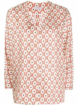 Alberto Biani блузка с геометричным принтом ABMM808SE3104