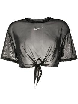 Nike cropped mesh T-shirt CJ2702NERO