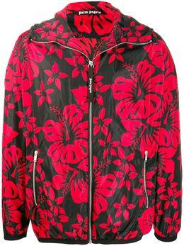 Palm Angels куртка на молнии с цветочным принтом PMEA073R207640121020