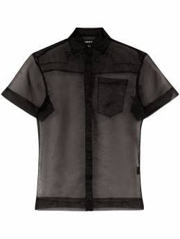 House Of Holland semi-sheer shirt SS20W0224