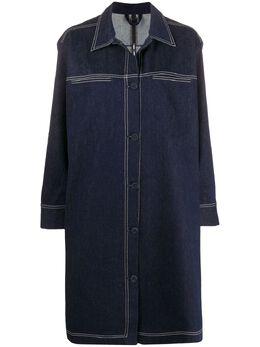 Sara Lanzi однобортное джинсовое пальто 01ACO1