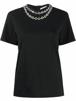 Christopher Kane футболка с кристаллами PF20TS529MEDIUMWEIGHTJERSEYBLACK