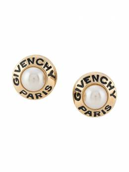 Givenchy Pre-Owned 1980s logo clip-on earrings ER024102