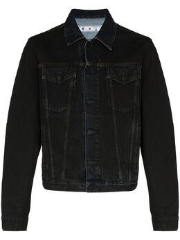 Off-White джинсовая куртка с логотипом OMYE054E20DEN0031049